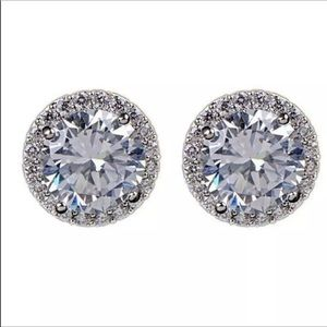 925 Sterling Silver CZ Diamond Earrings